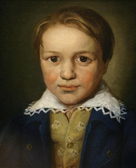 Retrato de Beethoven de joven