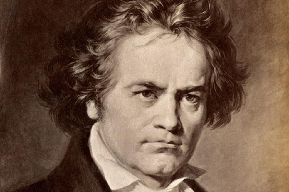 Beethoven retrato en color sepia
