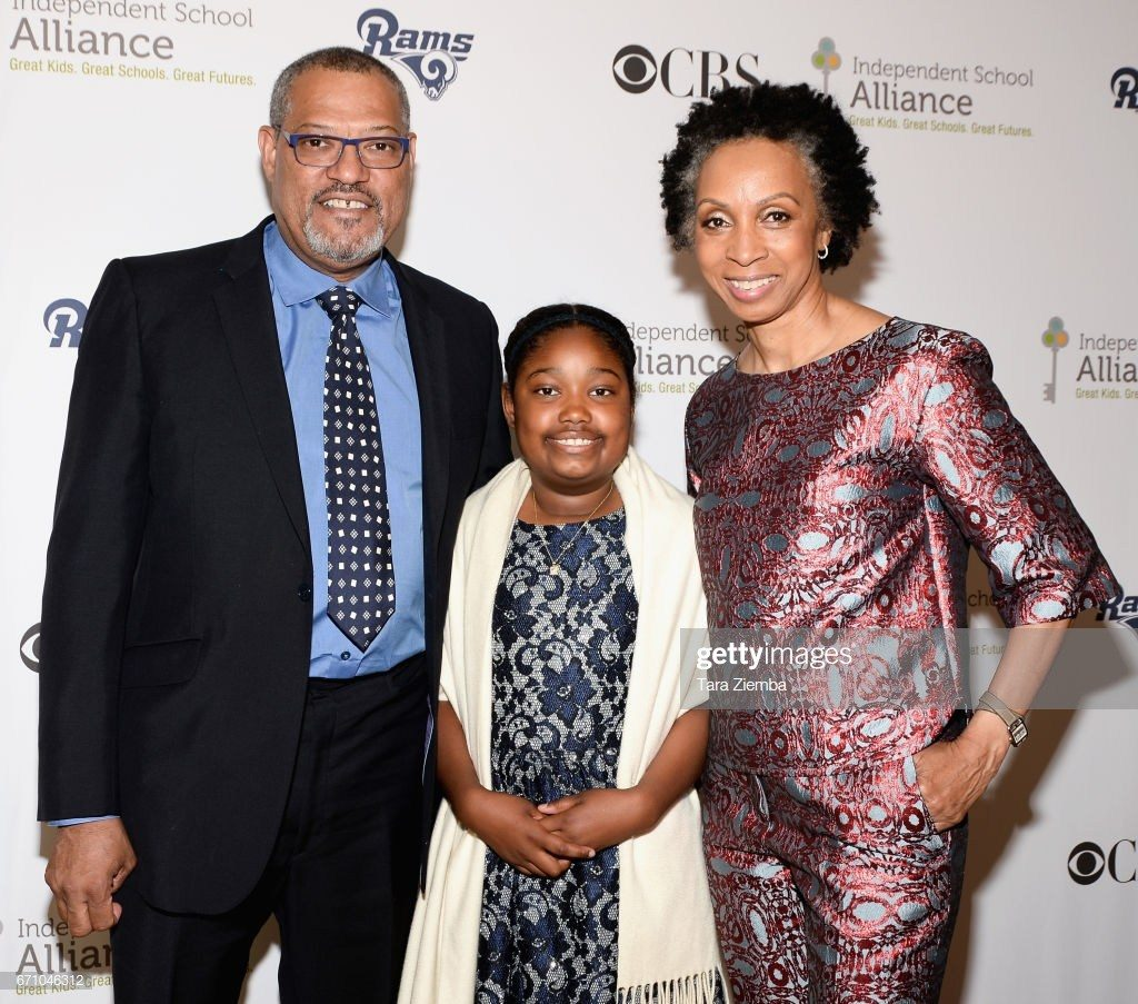 Delilah Fishburne con sus padres