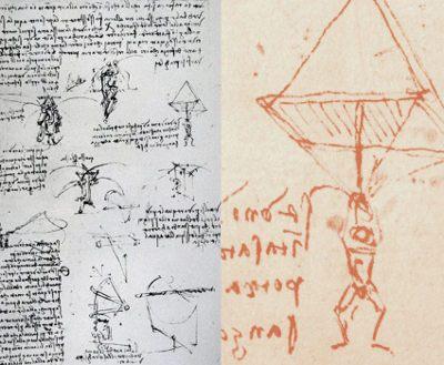 Paracaídas de Leonardo Da Vinci