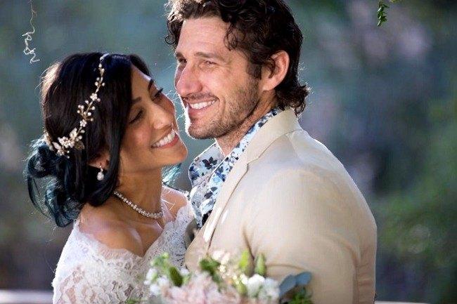 Wil Willis y su mujer el día de su boda